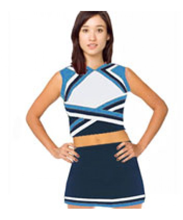 Cheerleader Uniform 9078b navy,  white,   sky blue...