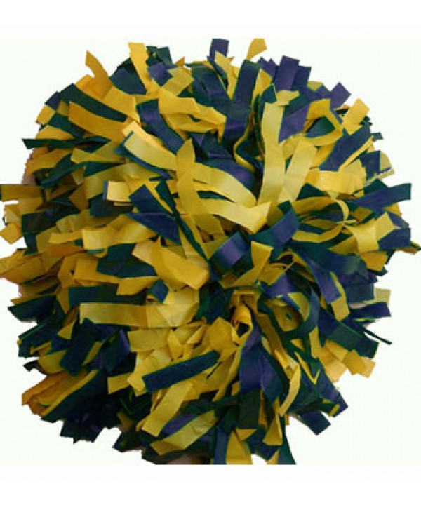 Pompom Plastic. 6in Navy,yellow,
