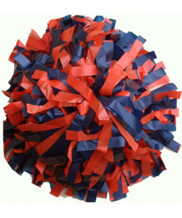 Pompom Plastic. 6in Orange,Navy,