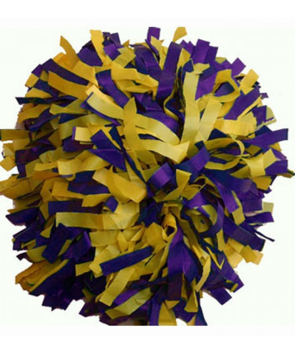 Pompom Plastic. 6in Purple,yellow,