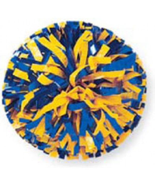Pompom Plastic. 6in Royal,Yellow,