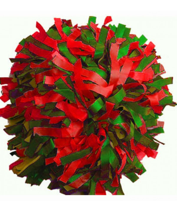 Pompom Plastic. 6in Red,Green,