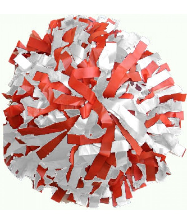 Pompom Plastic. 6in Red,White,