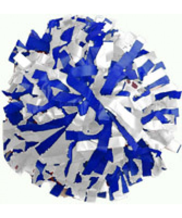 Pompom Plastic. 6in White,Royal,