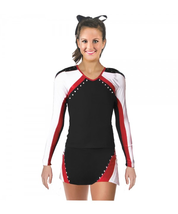 Cheerleader All Star Uniform 9as01 black,  white, ...