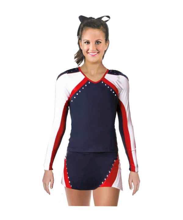 Cheerleader All Star Uniform 9as01 navy,  white,  ...
