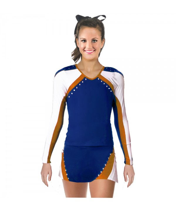 Cheerleader All Star Uniform 9as01 royal,  white,   orange