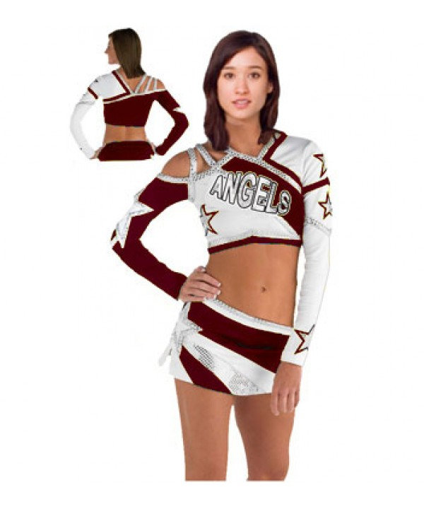Cheerleader All Star Uniform 9as08W maroon,  white...
