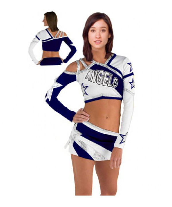 Cheerleader All Star Uniform 9as08Wf navy,  white,...
