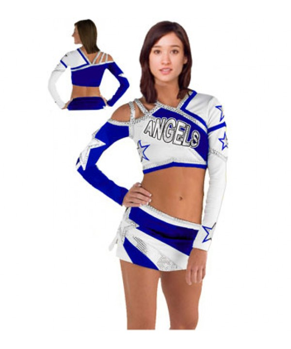 Cheerleader All Star Uniform 9as08B royal,  white,...