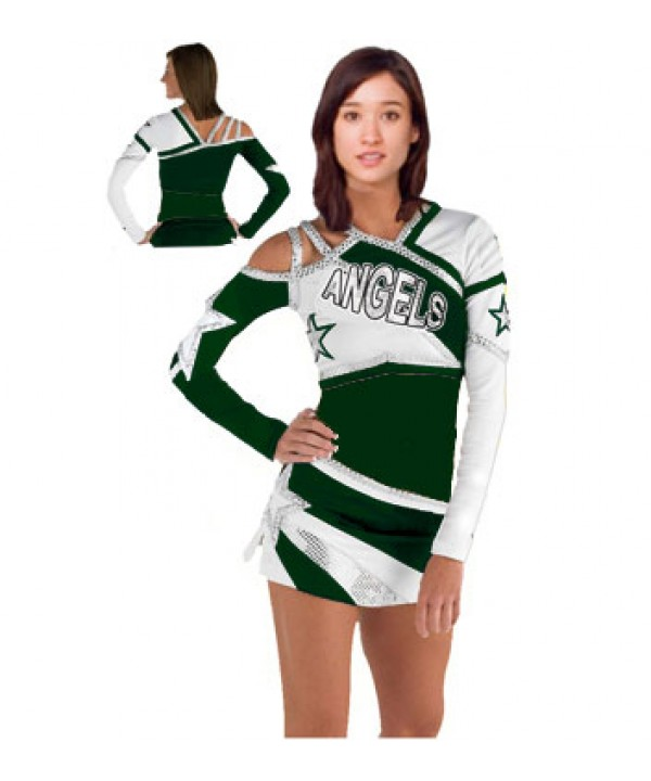 Cheerleader All Star Uniform 9as08WO dark green,  ...
