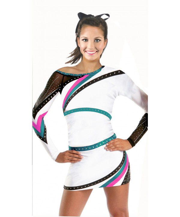 Cheerleader All Star Uniform 9as12w white,     pur...