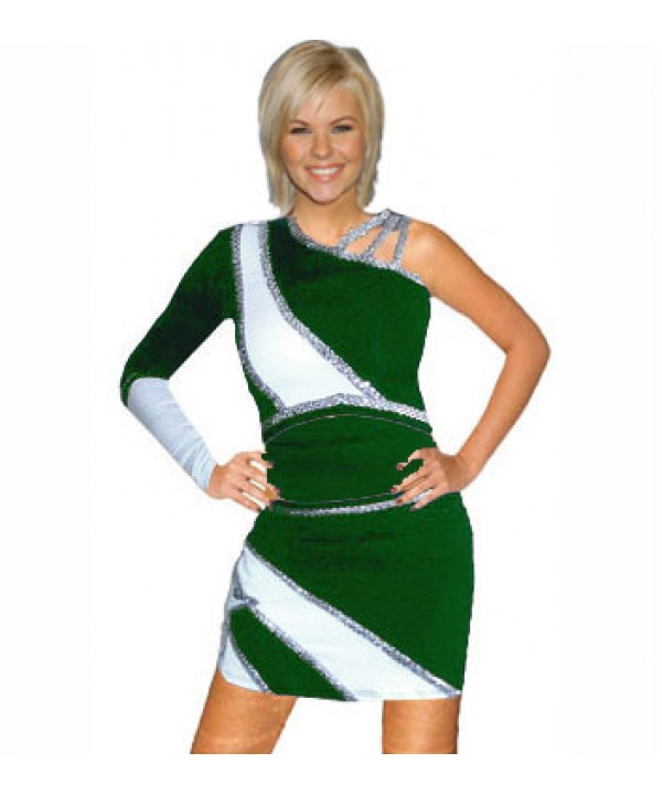 Cheerleader All Star Uniform 9as03w dark green,  w...