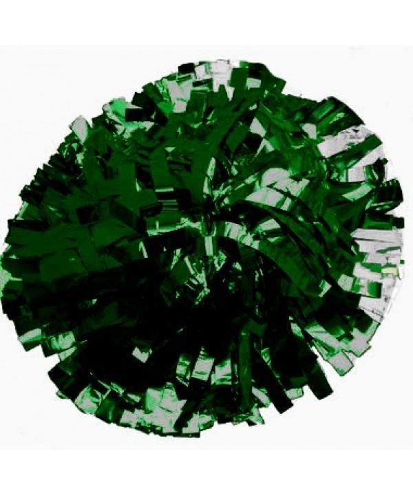 Pompom Metallic. 6in Dark Green