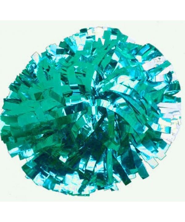 Pompom Metallic. 6in Jade