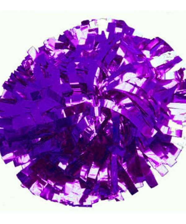 Pompom Metallic. 6in Purple