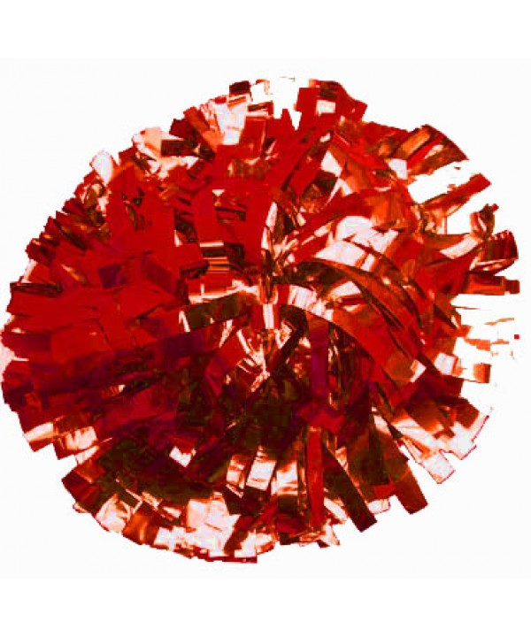 Pompom Metallic. 6in Red