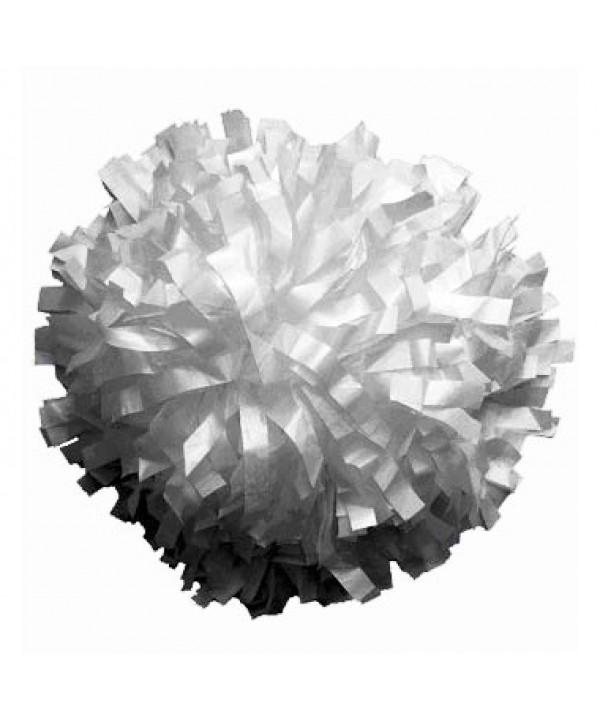 Pompom Metallic. 6in White