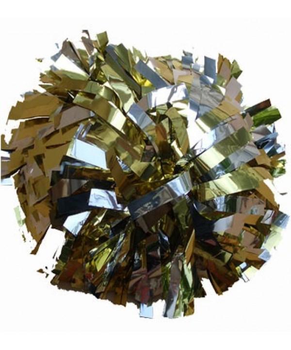 Pompom Metallic. 6in Silver Gold