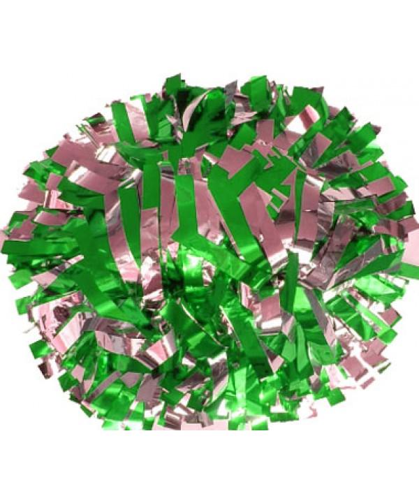 Pompom Metallic. 6in Silver Green