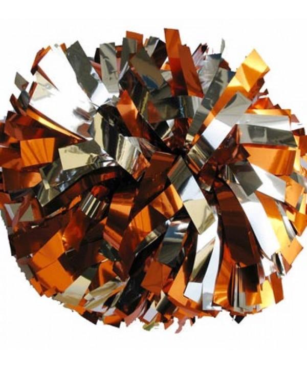 Pompom Metallic. 6in Silver Orange