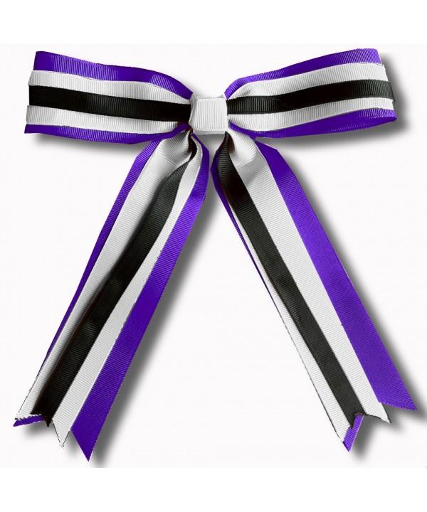 Cheer Hair Ribbon Purple Silver Black